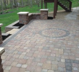 View of a nice brick patio